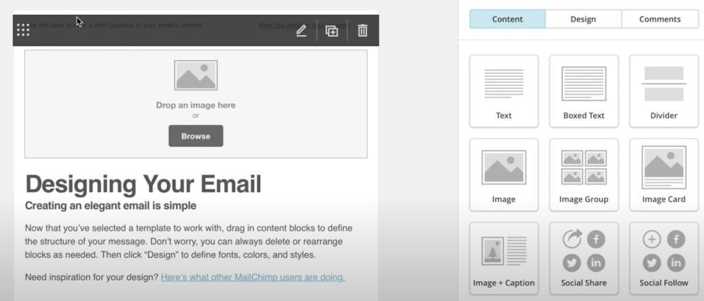 diseñar plantilla en mailchimp