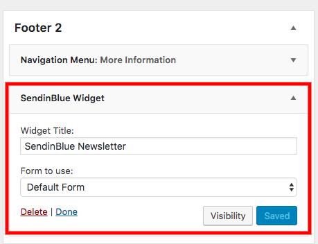 Añadir el widget del formulario de subscripción