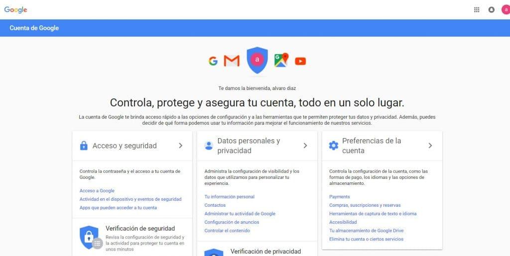 protege tu cuenta de google