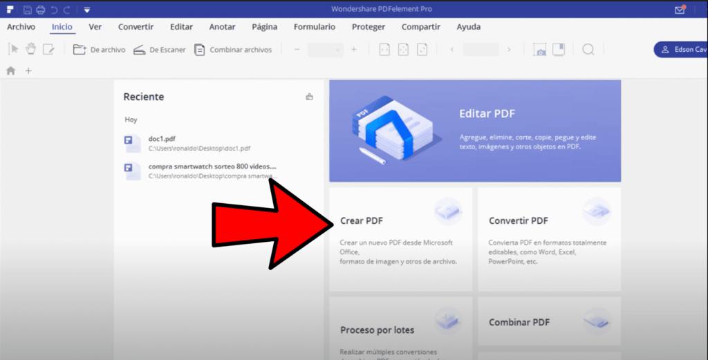 como crear un archivo PDF a partir de otro diferente