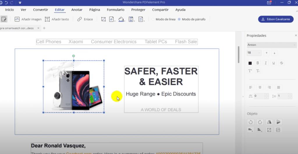 editar un archivo pdf