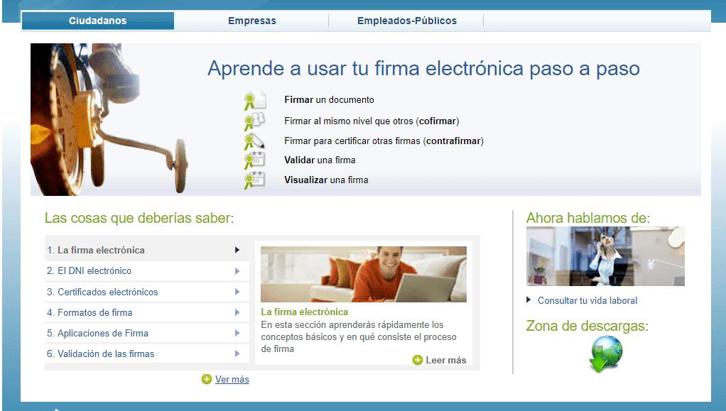 firma electrónica gobierno españa