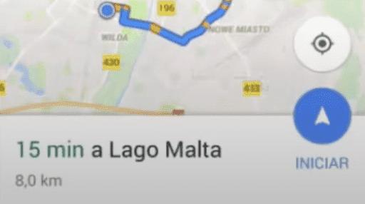 empezar la navegacion en google maps