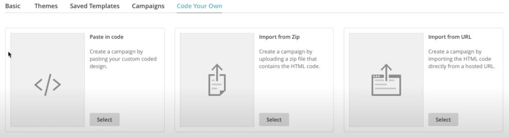 programar una plantilla en mailchimp