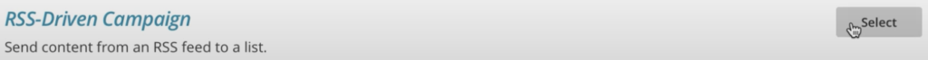 crear una newsletter con campaña rss-driven en mailchimp